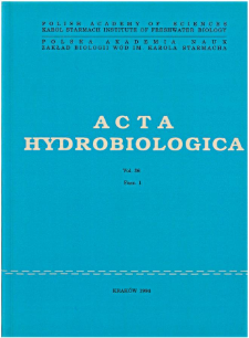 Acta Hydrobiologica Vol. 36 Fasc. 1 (1994)