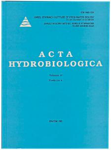 Acta Hydrobiologica Vol. 37 Fasc. 4 (1995)