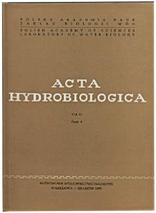 Acta Hydrobiologica Vol. 21 Fasc. 4 (1979)