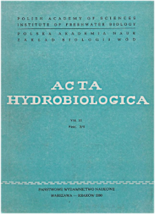 Acta Hydrobiologica Vol. 31 Fasc. 3/4 (1990)