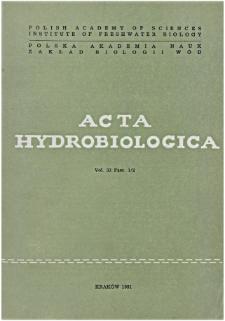 Acta Hydrobiologica Vol. 33 Fasc. 1/2 (1991)