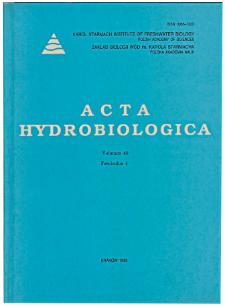 Acta Hydrobiologica Vol. 40 Fasc. 1 (1998)