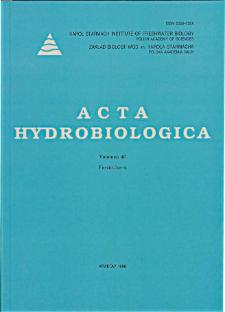 Acta Hydrobiologica Vol. 40 Fasc. 4 (1998)