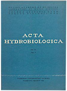 Acta Hydrobiologica Vol. 23 Fasc. 2 (1981)