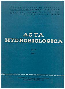 Acta Hydrobiologica Vol. 27 Fasc. 3 (1985)