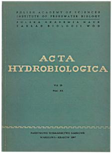 Acta Hydrobiologica Vol. 28 Fasc. 3/4 (1986)