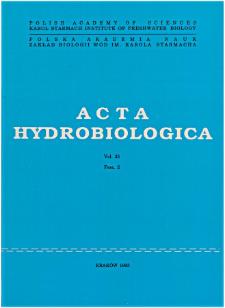 Acta Hydrobiologica Vol. 35 Fasc. 2 (1993)