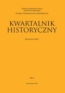 Kwartalnik Historyczny R. 126 nr 4 (2019)