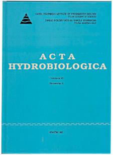 Acta Hydrobiologica Vol. 37 Fasc. 2 (1995)