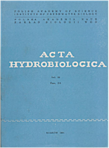 Acta Hydrobiologica Vol. 33 Fasc. 3/4 (1991)