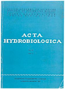 Acta Hydrobiologica Vol. 27 Fasc. 2 (1985)