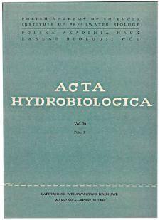 Acta Hydrobiologica Vol. 29 Fasc. 3 (1987)