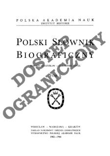 Polski słownik biograficzny T. 10 (1962-1964), Horoch Mieczysław - Jarosiński Paweł