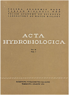 Acta Hydrobiologica Vol. 16 Fasc. 1 (1974)