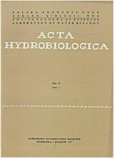 Acta Hydrobiologica Vol. 17 Fasc. 1 (1975)