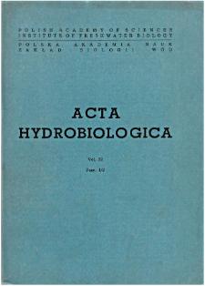 Acta Hydrobiologica Vol. 32 Fasc. 1/2 (1990)