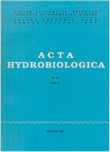 Acta Hydrobiologica Vol. 34 Fasc. 3 (1992)