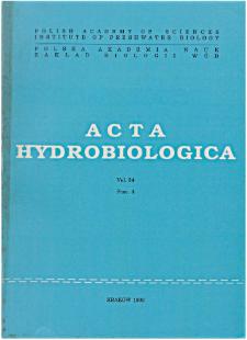 Acta Hydrobiologica Vol. 34 Fasc. 4 (1992)