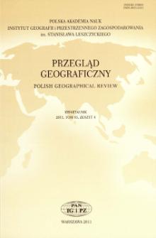 Przegląd Geograficzny T. 83 z. 4 (2011)