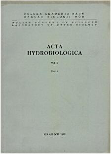 Acta Hydrobiologica Vol. 5 Fasc. 4 (1963)