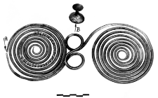 spectacle fibula with a knob (Dzierżęcin)