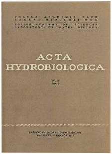 Acta Hydrobiologica Vol. 15 Fasc. 2 (1973)