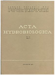 Acta Hydrobiologica Vol. 13 Fasc. 3 (1971)