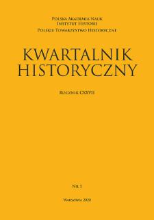 Kwartalnik Historyczny R. 127 nr 1 (2020)