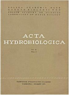 Acta Hydrobiologica Vol. 16 Fasc. 2 (1974)