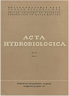 Acta Hydrobiologica Vol. 19 Fasc. 4 (1977)