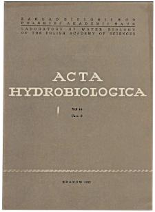 Acta Hydrobiologica Vol. 14 Fasc. 3 (1972)