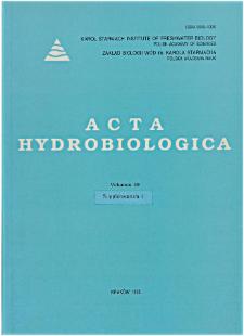Acta Hydrobiologica Vol. 39 (1998) Suppl. 1