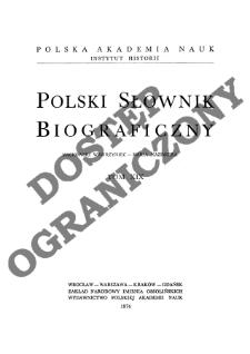 Polski słownik biograficzny T. 19 (1974), Machowski Wawrzyniec - Maria Kazimiera