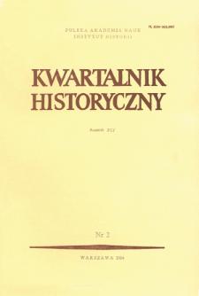 Kwartalnik Historyczny R. 91 nr 2 (1984)