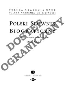 Polski słownik biograficzny T. 41 (2002), Sowiński Jan - Stanisław August Poniatowski