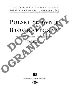 Polski słownik biograficzny T. 42 (2003-2004), Stanisław, książę mazowiecki - Stawiarski Seweryn
