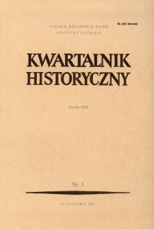 Kwartalnik Historyczny R. 92 nr 3 (1985), Artykuły recenzyjne