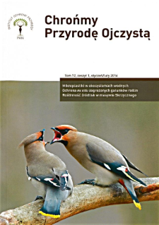 Let's protect Our Indigenous Nature Vol. 72 z. 1 (2016)