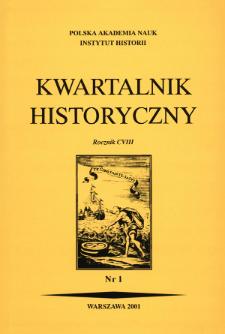 Kwartalnik Historyczny R. 108 nr 1 (2001)