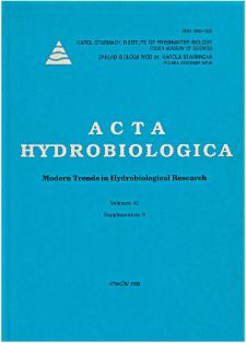 Acta Hydrobiologica Vol. 41 (1999) Suppl. 6