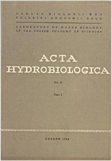 Acta Hydrobiologica Vol. 11 Fasc. 1 (1969)