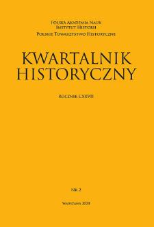 Kwartalnik Historyczny R. 127 nr 2 (2020)