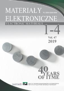 Materiały Elektroniczne = Electronic Materials