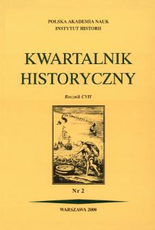 Kwartalnik Historyczny R. 107 nr 2 (2000), Artykuły recenzyjne