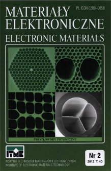 Materiały Elektroniczne 2011 T.40 nr 2 = Electronic Materials 2011 T.40 nr 2