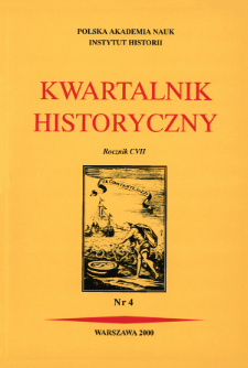 Kwartalnik Historyczny R. 107 nr 4 (2000)