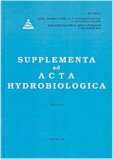 Supplementa ad Acta Hydrobiologica Vol. 6 (2003)