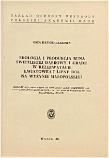 Studia Naturae No. 5 (1971)