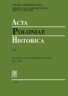Acta Poloniae Historica T. 121 (2020), Studies