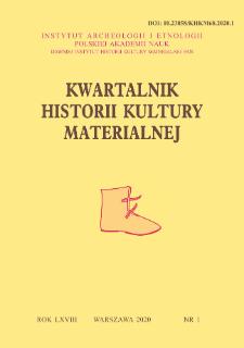 Kwartalnik Historii Kultury Materialnej R. 68 Nr 1